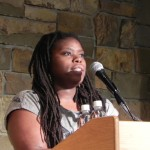 Kaitlyn Greenidge reading at Johnson State College